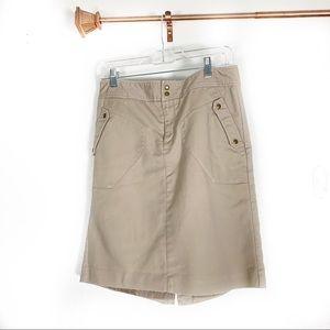 Worthington khaki skirt size 10 midi length